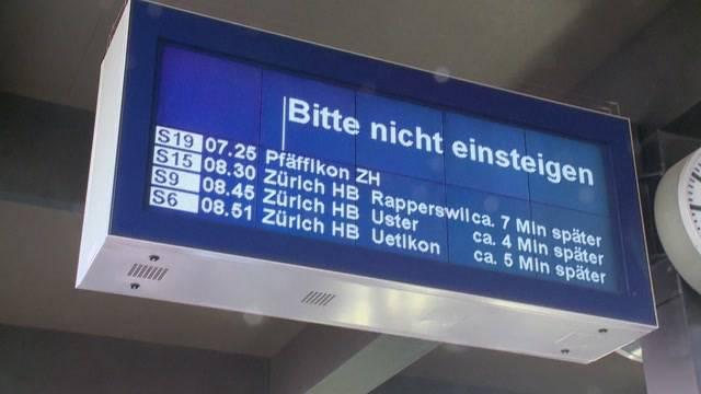 Pendler-Chaos in Zürich