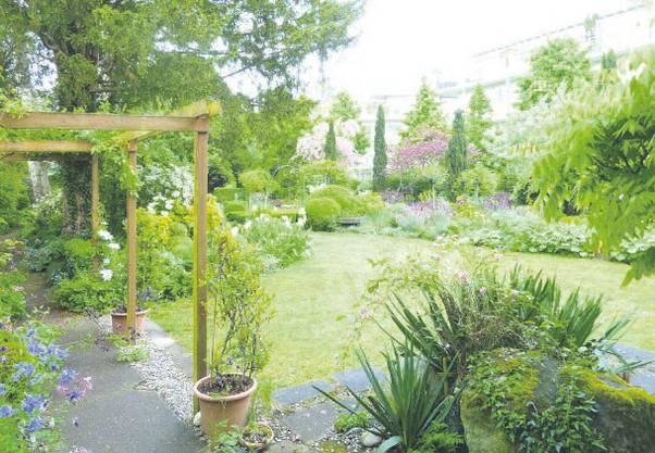 Der Garten diente als Leitbild fürs Farb- und Materialkonzept.