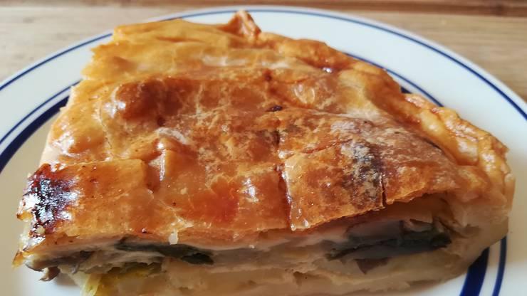 Landet im Wallis oft auf dem Teller: «Cholera», ein Gemüsekuchen mit Lauch, Kartoffeln, Käse und Äpfeln.