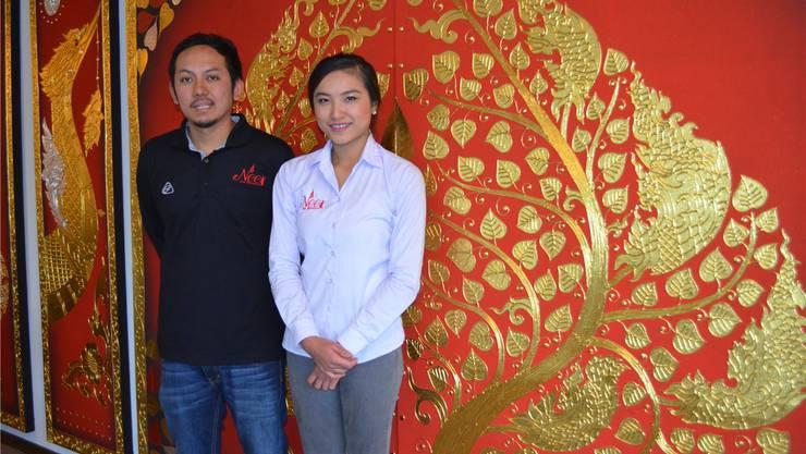 Geschäftsleiter Uthen Frei und seine Ehefrau im neuen Lokal.