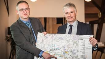 Die Studie «Wasser 2035» wurde von Peter Lehmann (rechts), Vorsitzender der Geschäftsleitung IBW, initiiert und unter der Leitung von Martin Schibli, Geschäftsführer Waldburger Ingenieure, durchgeführt.