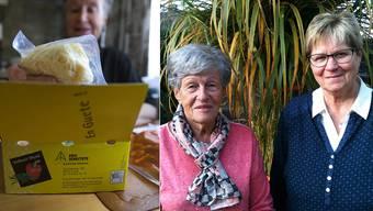 Theres Schmutz und Franziska Caminada waren 30 und 25 Jahre im Dienst.