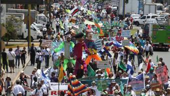 Tausende demonstrieren in Lima für mehr Umweltschutz