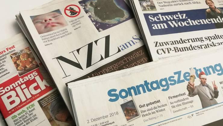Die wichtigsten Schlagzeilen aus der Sonntagspresse (Archivbild).