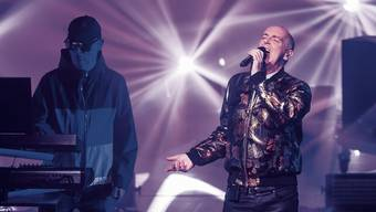 Neil Tennant (R) and Chris Lowe (L) of The Pet Shop Boys perform live on stage at The Royal Opera House