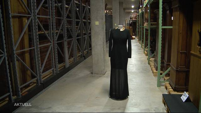 Leuthards Kleid wir nun im Museum bestaunt