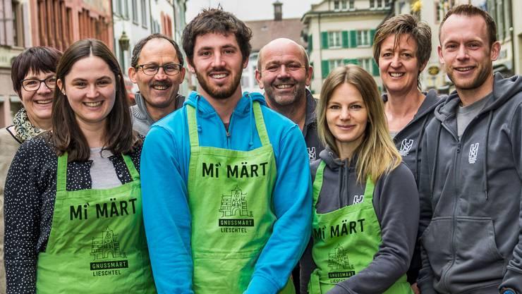 Sie alle sind beim Genussmarkt dabei: Das Team von zwei Diegter Höfen...