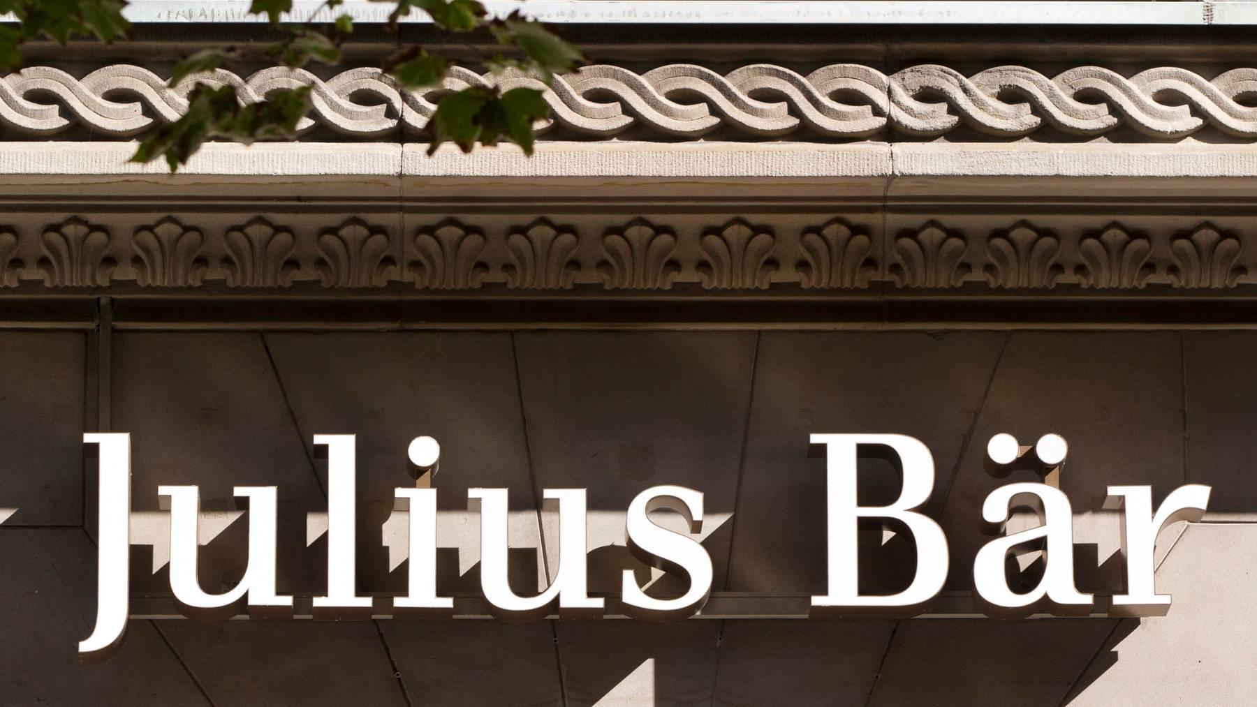 In den ersten vier Monaten von 2020 verringerten sich die von Julius Bär verwalteten Vermögen um 8 Prozent.
