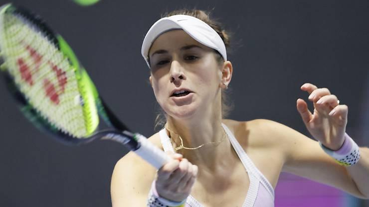 Belinda Bencic am Turnier in St. Petersburg von letzter Woche