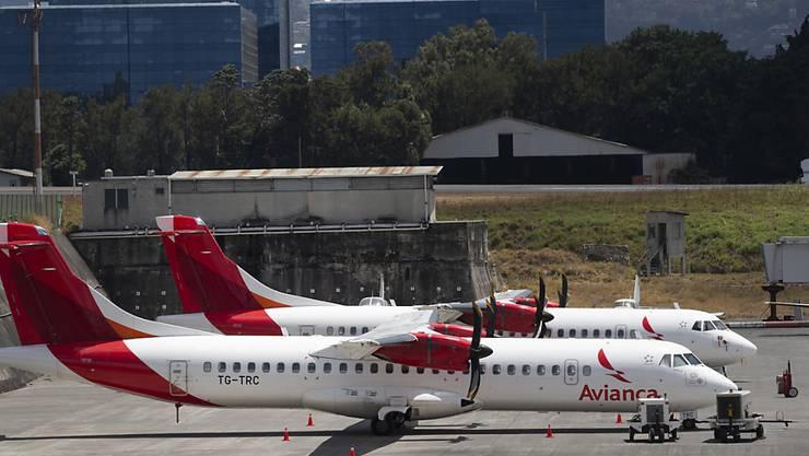 Parkierte Flugzeuge von Avianca auf dem Flughafen von Guatemala-Stadt. (Archivbild)