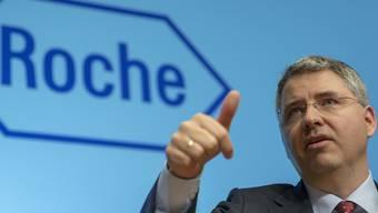 Roche-Chef Severin Schwan freut sich über ein neues, vielversprechendes Medikament.