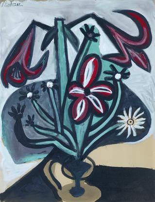 Pablo Picasso LE BOUQUET 1948 Öl und Gouache auf Papier