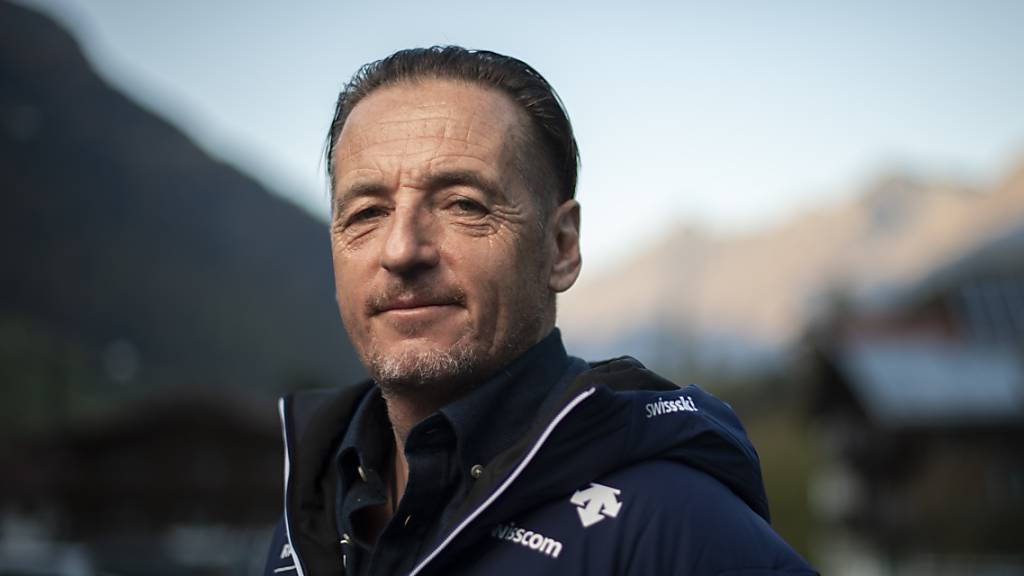 Swiss-Ski-Gruppentrainer Helmut Krug kann mit seinen Spitzenfahrern im Riesenslalom die Früchte der Arbeit ernten