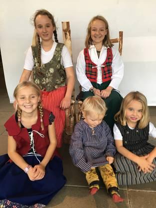Die fünf Kinder von Jael Bischof werden alle zu Hause beschult. Regelmässige Museumsbesuche gehören normalerweise dazu.