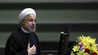 """""""Fragen und Zweifel"""": Irans Präsident Hasan Ruhani (Archiv)"""