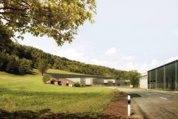 So würde die Oberflächenanlage für das Endlager am Bözberg aussehen – sie ist in Villigen geplant.