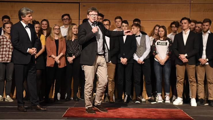 Beat Brunner (M.) blickte auf ein erfolgreiches Jahr mit Rotweiss Wettingen zurück