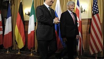 Die Aussenminister Italiens und Kanadas: Frattini (l.) und Cannon (r.)