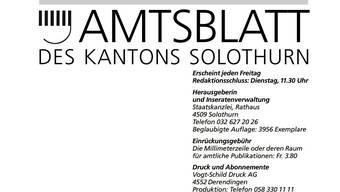 Das Solothurner Amtsblatt