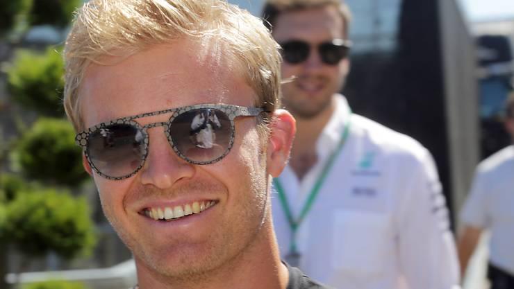 Nico Rosberg hat gut lachen: Er fährt im ersten Training Bestzeit