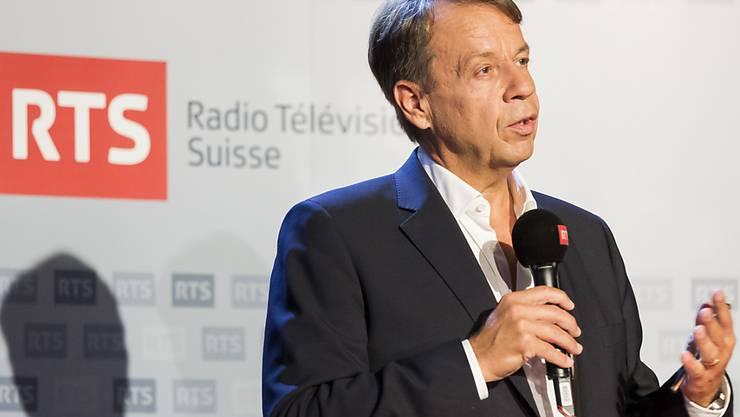Die SRG-Delegierten genehmigten am Freitag die Wahl von Gilles Marchand zum neuen Generaldirektor der SRG. Marchand gibt damit das Amt des Direktors von Radio Télévision Suisse (RTS) ab. (Archivbild)