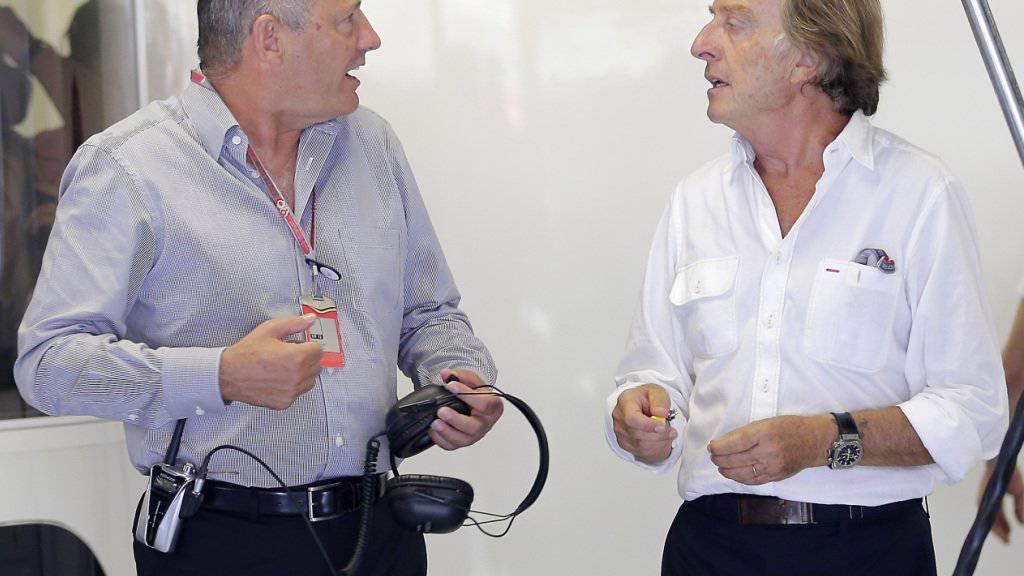 Muss McLaren per Ende 2017 verlassen: Formel-1-Urgestein Ron Dennis (rechts)