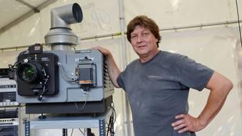 Martin Ritschard hat «seine» Krummturmschanze wieder für den heutigen Sommerfilm-Start erobert.