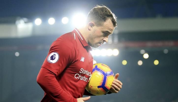 Xherdan Shaqiri darf endlich wieder für Liverpool auflaufen - wenn auch nur für ein paar Minuten.