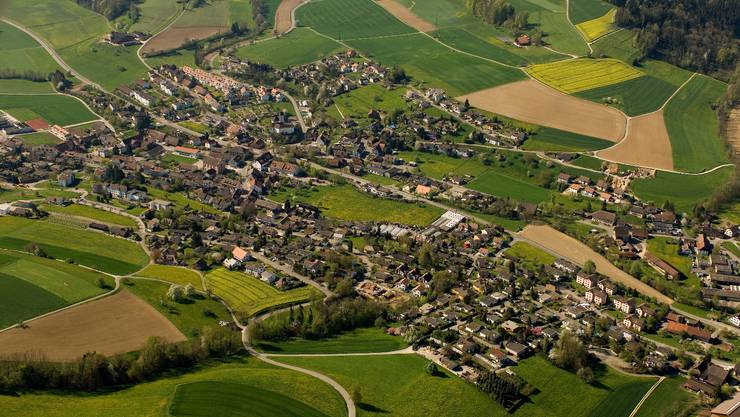 Der Kanton Aargau von oben