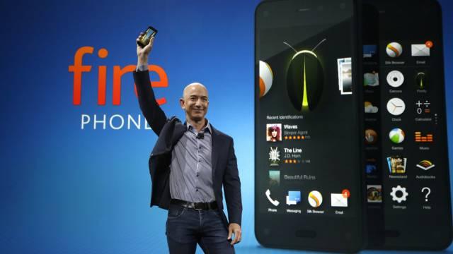 Amazon-Chef Jeff Bezos präsentiert das neue Amazon Fire Phone