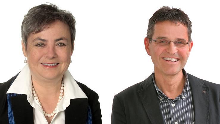 Barbara Leibundgut (FDP) und Thomas Steiner (CVP)