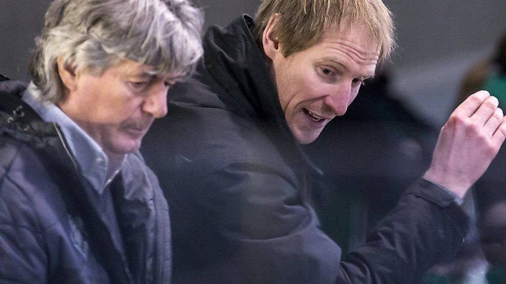 Oltens neues Kompetenzzentrum an der Bande: Ersatzausländer Eric Beaudoin (rechts) als Headcoach, Köbi Kölliker als Assistent
