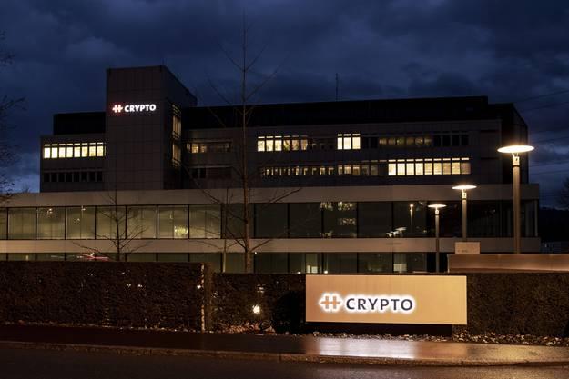 Der Hauptsitz des Chiffriergeräte-Herstellers Crypto in Steinhausen, Kanton Zug.