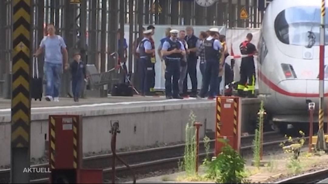 Fremder stösst in Frankfurt Frau und Kind vor ICE