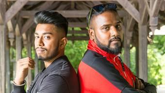 Die Rapper Morish (l.) und Siga machen in ihren Songs auf wichtige Themen wie Flucht und Rassismus aufmerksam.