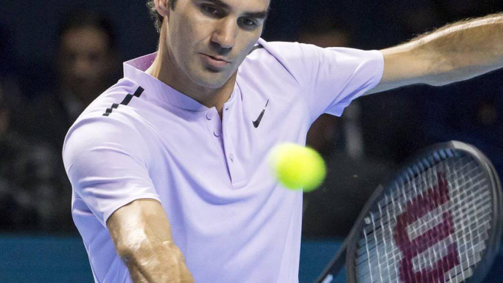 Roger Federer sucht in der Woche vor den ATP Finals in London (12. bis 19. November) noch etwas Matchpraxis