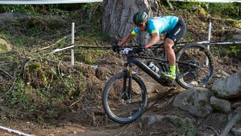 Nathalie Schneitter am Mountainbike World Cup in Val di Sole.