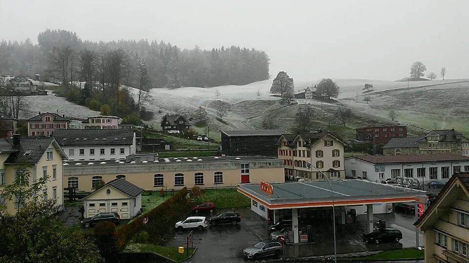 Wo liegt die Schneefallgrenze? Offenbar in Herisau!