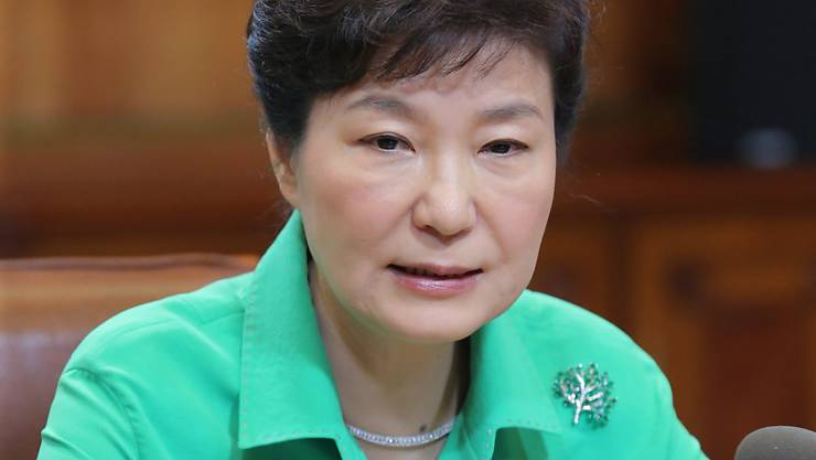 """Fordert eine """"klare Entschuldigung"""" von Nordkorea: Südkoreas Präsidentin will nicht einfach über Zwischenfälle an der Grenze zum verfeindeten Norden hinwegsehen. Die Propaganda-Beschallung des Norden hält an."""