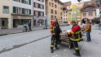 Feuerwehr-Einsatz in der Aarauer Metzgergasse