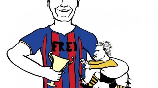Alex Frei und der FC Basel haben den Meisterpokal und YB-Goalie Marco Wölfli fest im Griff – die Young Boys hingegen warten seit 1986 auf eine Meisterparty.