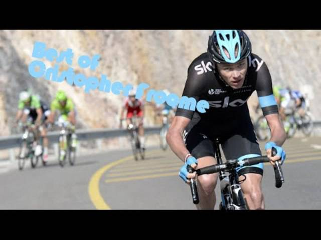 Chris Froome in Aktion
