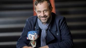 """Regisseur Claude Barras und sein Courgette: An den Annie Awards gab es keinen Preis, doch noch stehen viele Preisverleihungen bevor, an denen """"Ma vie de Courgette"""" ausgezeichnet werden könnte. (Archivbild)"""