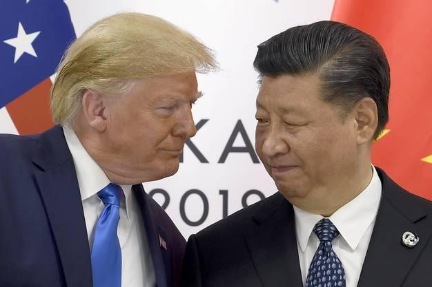 Da sah es noch nach Tauwetter aus: US-Präsident Donald Trump und Chinas Präsident Xi Jinping beim G-20-Gipfel in Osaka, Japan, Ende Juni.