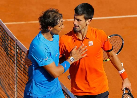 Das letzte Duell zwischen Novak Djokovic und Rafael Nadal in Paris datiert vom Juni 2015: Djokovic gewann in drei Sätzen.