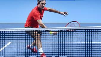 Roger Federer gegen Kei Nishikori an den ATP Finals