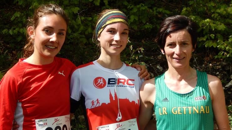 Von links: Lisa Schneeberger (2.), Maren Tritschler (1.) und Edith Steinmann (3.).