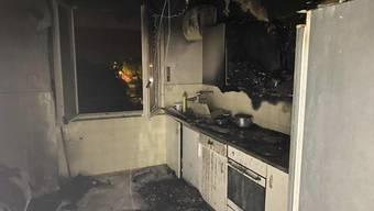 Ausgebrannt: Die Küche in einer Freiburger Wohnung. Die Brandursache ist unbekannt.