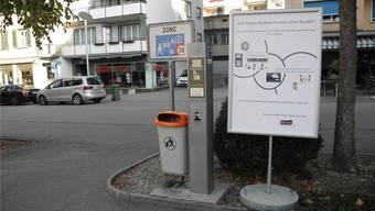 Ein Plakat beim EPA-Parkplatz.