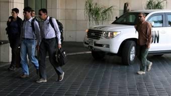 UNO-Experten bei der Ankunft in Damaskus (Archiv)